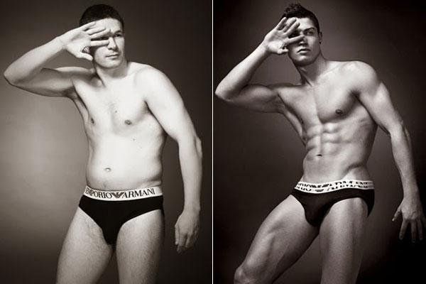 肉男模换成 真男人 的内裤广告作品