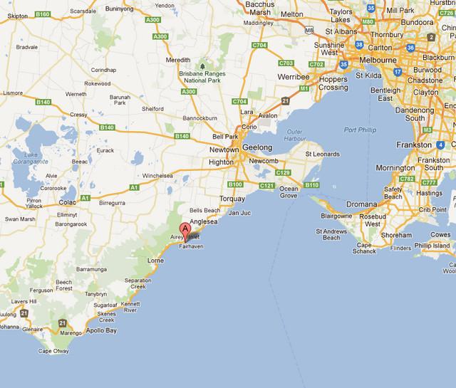 澳洲大洋路手绘地图
