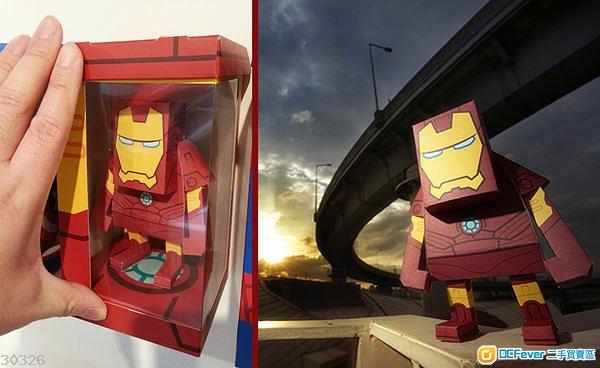 IRON MAN 3 鐵甲奇俠 3 紙模型Marvel 官方出品 (需自行砌摺)