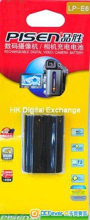 全新品勝PISEN LP-E6 電池 for Canon 5D Mark III, II,6D,60D,7D,行貨一年保