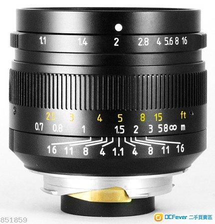 7 ARTISANS 50mm F1.1[七工匠,黑]