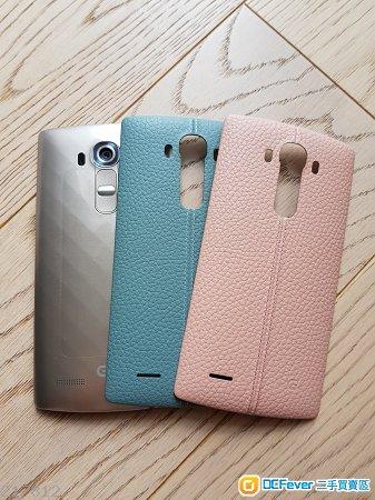 90%新 LG G4金色 行貨已過保 送兩塊原廠真皮後蓋 原廠外置充電盒