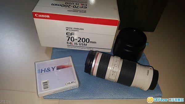 Canon EF 70-200mm f4L IS USM & H&Y UV/IR