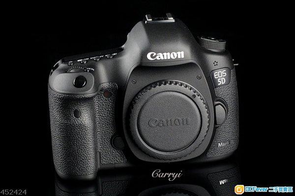 冇花近全新行貨Canon 5D3 mark III, 快門868, 連原廠配件成4千蚊想玩A7II/6D (輕便FF機)