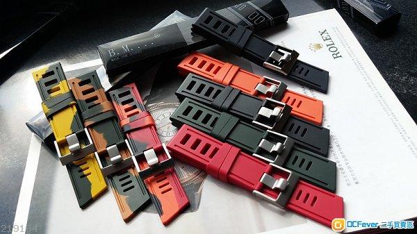 全新24mm橡膠潛水膠錶帶 ( Panerai / Breitling) ISOFRANE同類型中國制