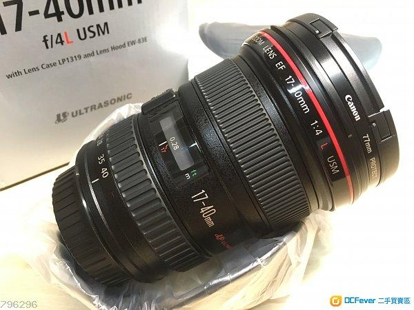 【99%極新有保】 CANON EF 17-40mm f/4.0 L USM 超廣角鏡 連保護鏡