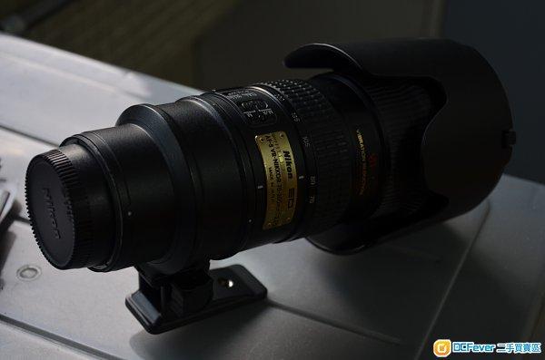 nikon 70-200 f2.8 vr with case, hood
