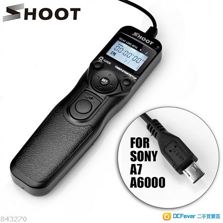 SHOOT RM-VPR1 Selfie LCD Timer Remote Control Shutter Release Cable