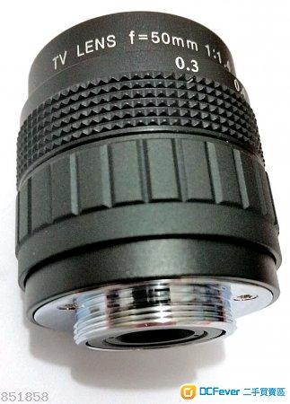 CCTV 50MM F1.4[FOR SONY E  / M43 / FUJI / EOSM / PQ / NIKON 1]