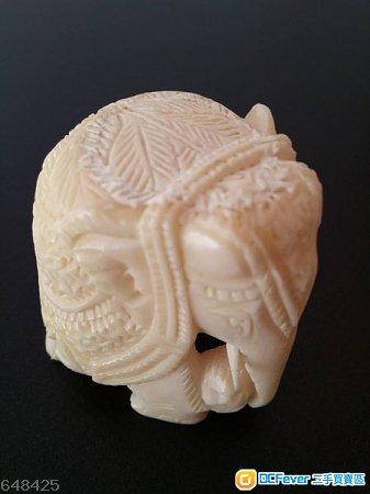 回 真骨雕刻 大象担小象 手工工艺