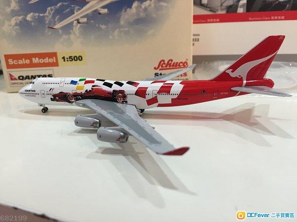 全新qantas澳洲航空公司波音747-400飞机模型