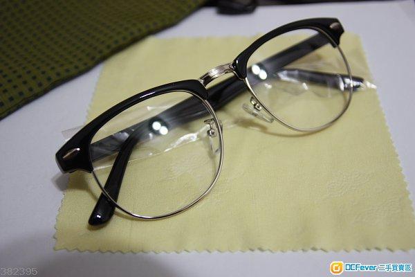 出售 全新 复古半框中金眼镜架 平光眼镜 无戴过