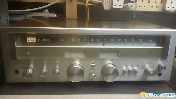 日本sansui 山水g-3500古典收音扩音机