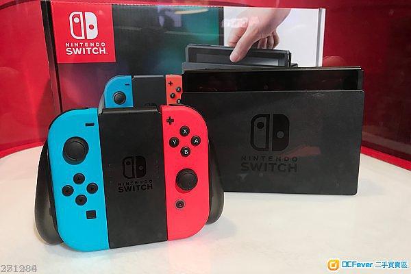 全新现货 nintendo switch 任天堂 switch 红篮主机 nx ns (香港行货)