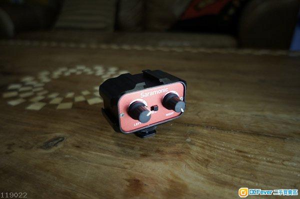 单反麦克风摄像机话筒混音器 音频衰减器 单声道转立体声 一拖二